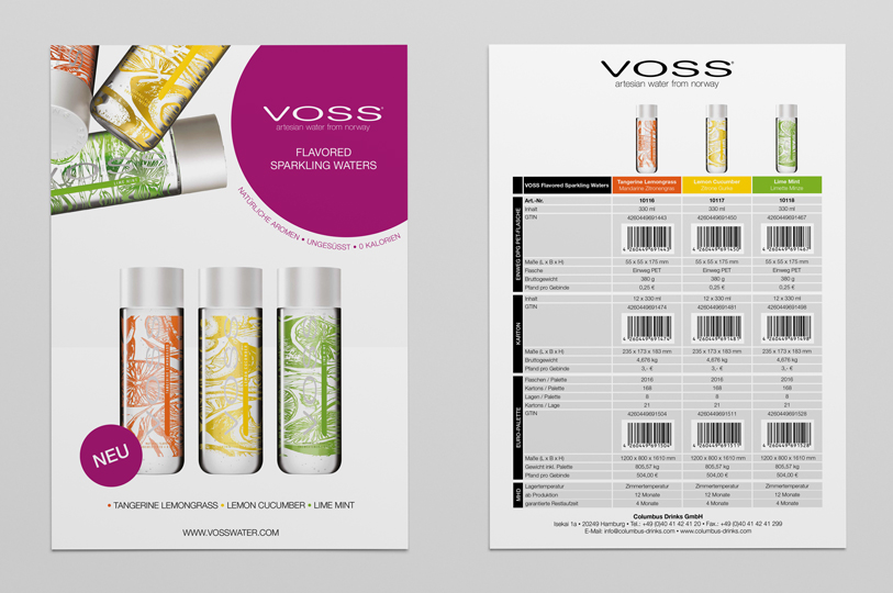 voss flavored flyer